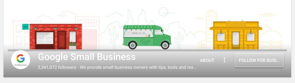 Screenshot Google Small Business Google plus banner